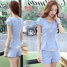 fd082f6bd0 Summer new shorts suit women's fashion Korean version of the two-piece small  wind fashion