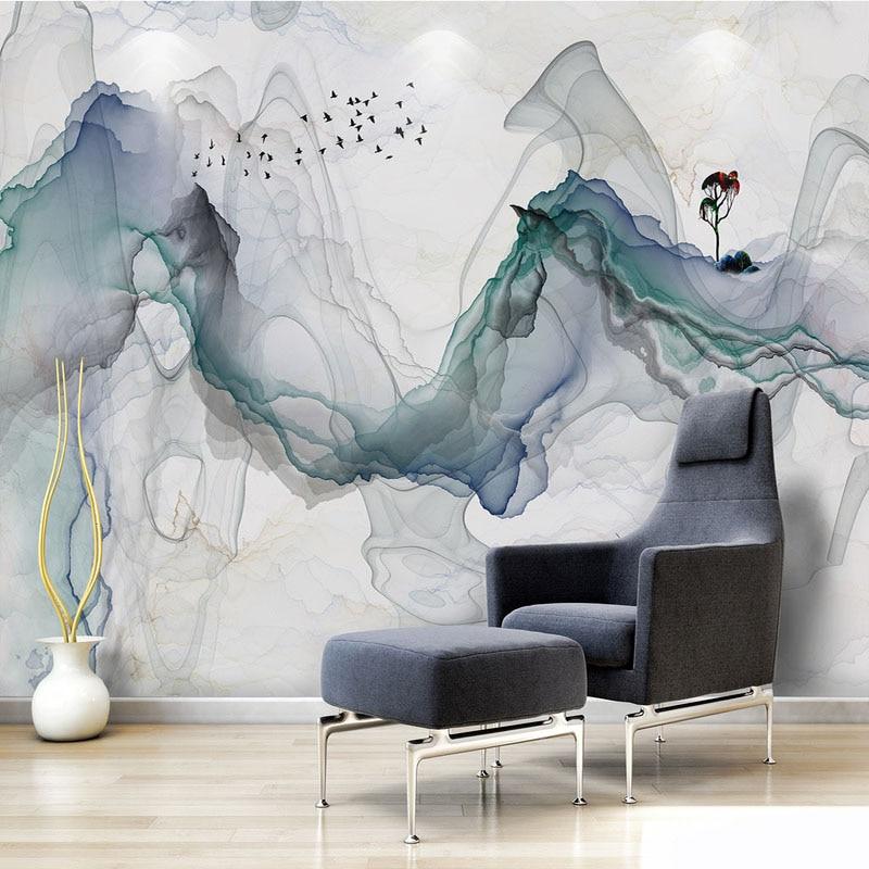Stoff & Textile Wandbekleidungen Methodisch Foto Tapete Moderne 3d Stereo Abstrakte Smog Wand Chinesischen Stil Wohnzimmer Tv Sofa Hintergrund Wand Tuch 3d Papel De Parede