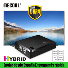 MECOOL KI Pro DVB T T2 S S2 C Combo Hybrid Смарт ТВ коробка DDR4 2 г 16 г Android 7,1 Двойной Wi-Fi Set Top Коробки 4 К Ultra HD медиаплеер