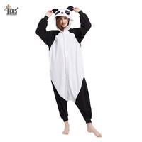 Panda Hooded Animal Cute Pajamas Adult Sleepwear One Piece Cotton Full Body Onesie Flannel Cosplay Costume