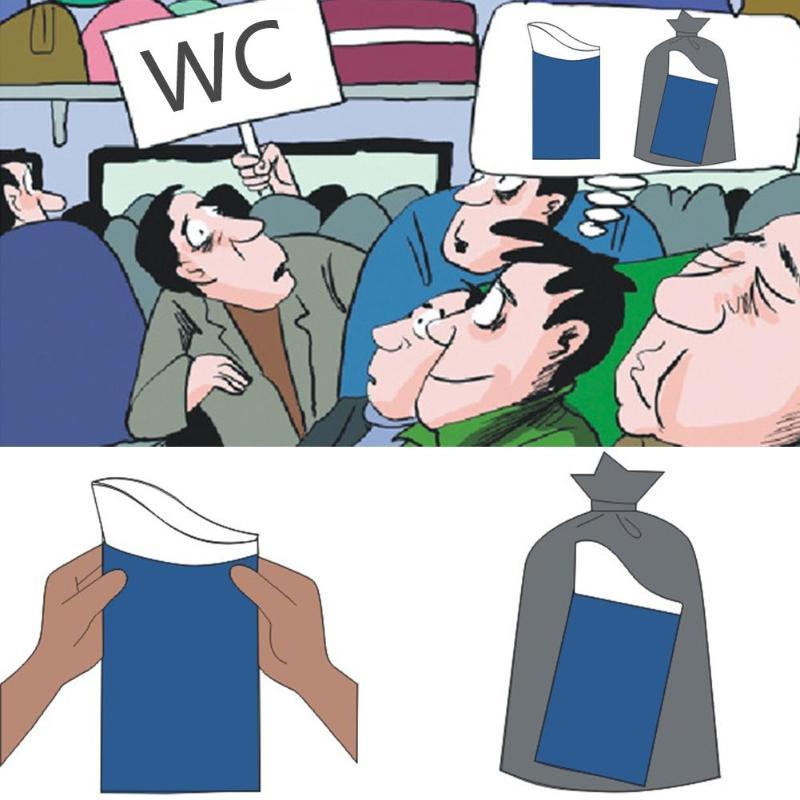 10 piezas al aire libre de emergencia de orinar bolsas 600CC fácil de tomar bolsas de PIs coche de viaje Mini baño para bebé/mujer/ los hombres de envío de la gota