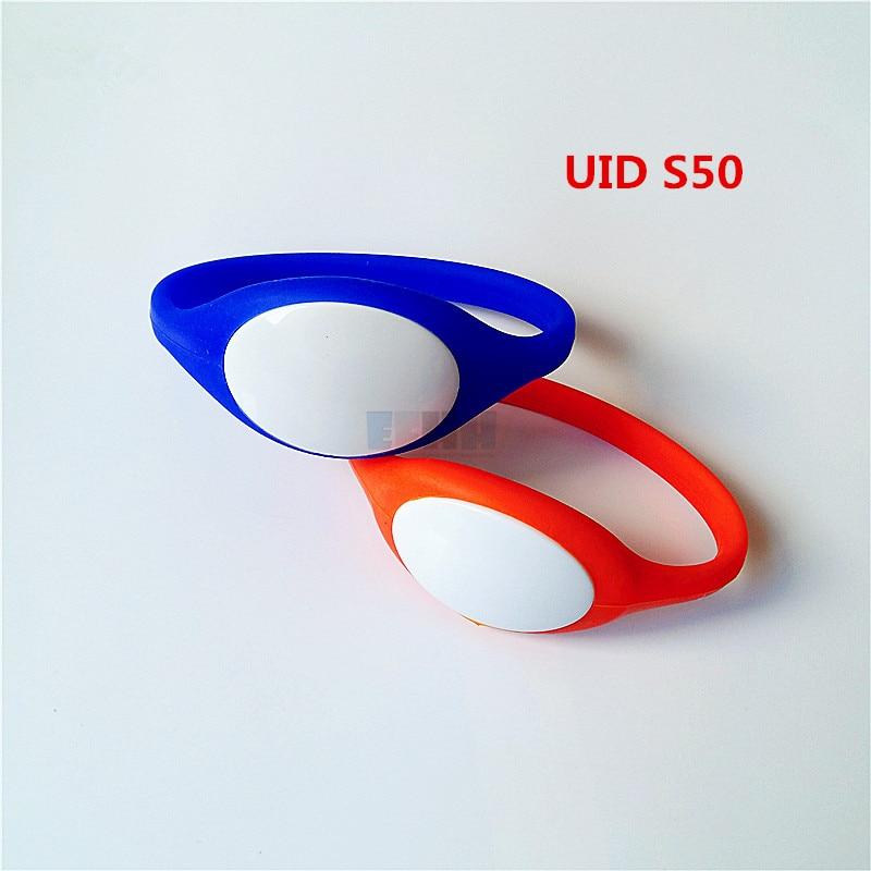 13.5MHZ UID Changeable S50 1K NFC Bracelet Wristband Wrist Band MF S50 Clone Copy Backup Block zero Rewritable RFID Card 10pcs lot 13 56mhz rfid wristband silicone electronic bracelets wrist band nfc smart mf 1k s50