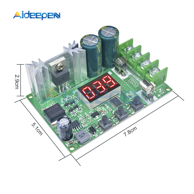 DC 12V-60V 10A 600W DC Motor Speed Controller LED Digital PWM Regulation Pulse Width Board Motor Control Switch 14KHz 24V 48V image