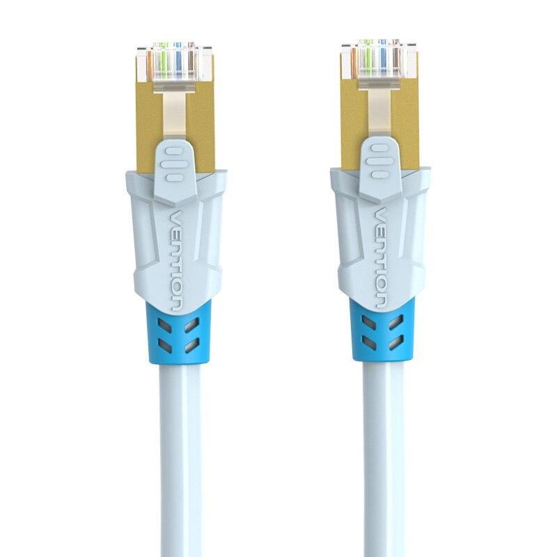 Câble Ethernet haute vitesse 2 m 10 Cat7 5 gbps câbles d'extension en cuivre pur à fil plat BYA