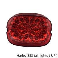 1PCS Red Lens Motorcycle Flashers Intergrated Led Tail Light Brake Turn Signals Blinker For Harley Bike
