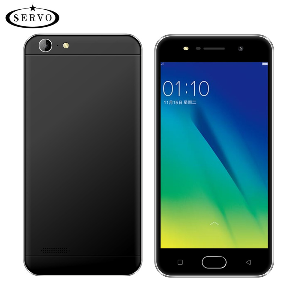 Original Phone SERVO V5s 5.0 inch MTK6580M Quad Core Android 6.0 Smartphone RAM 1GB ROM 4GB Camera 5.0MP GPS WCDMA Mobile Phones