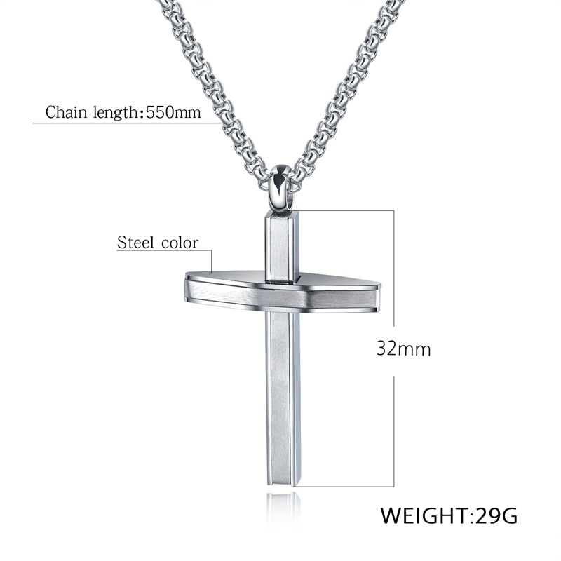 Stainless Steel Round Washer Donut Pendant 32mm Necklace Pendant