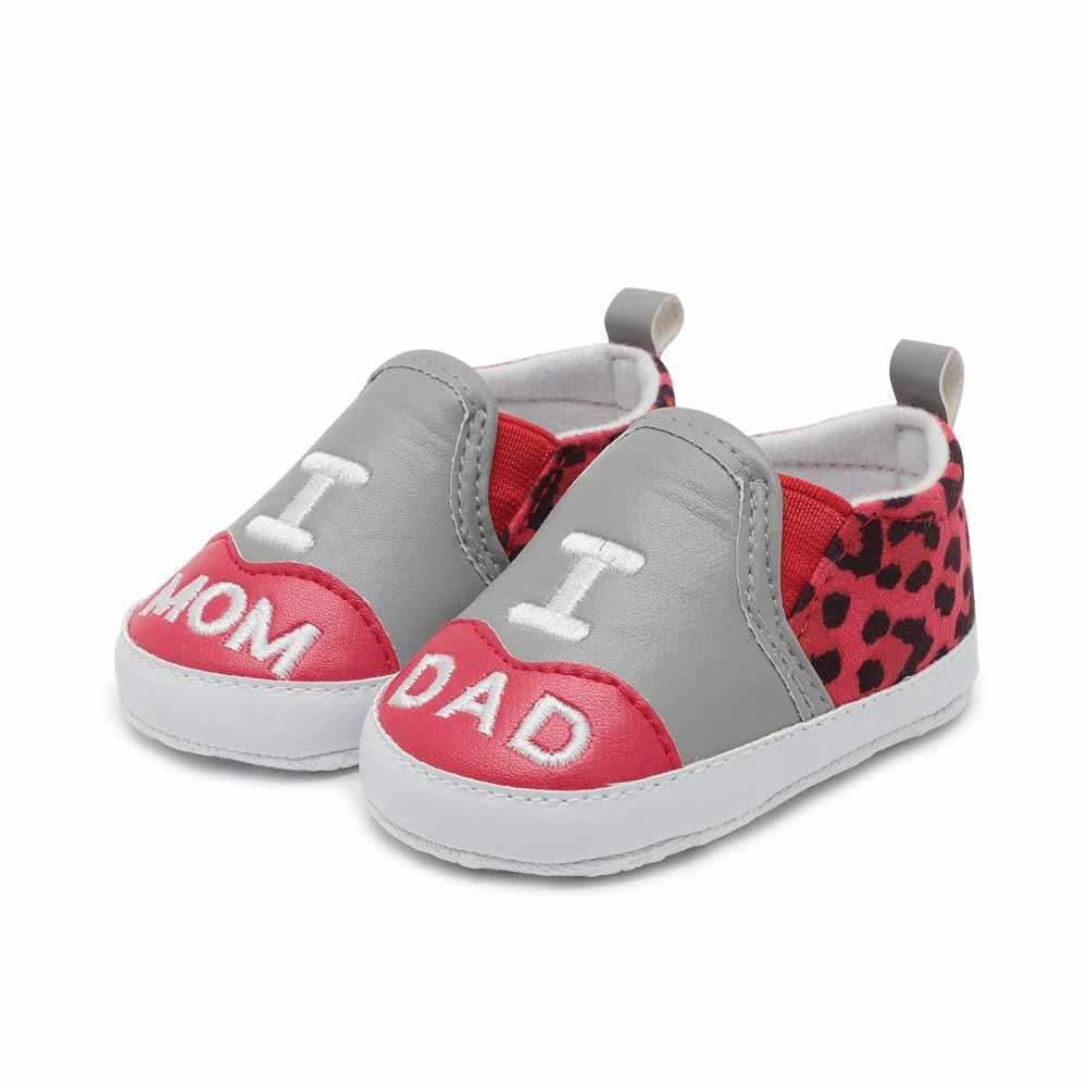 תינוקות תינוק נעלי אביב מזדמן ילד ילדה נעלי עור נעלי אותיות מודפס נעליים יומיומיות נמר תפרים רדוד נעל
