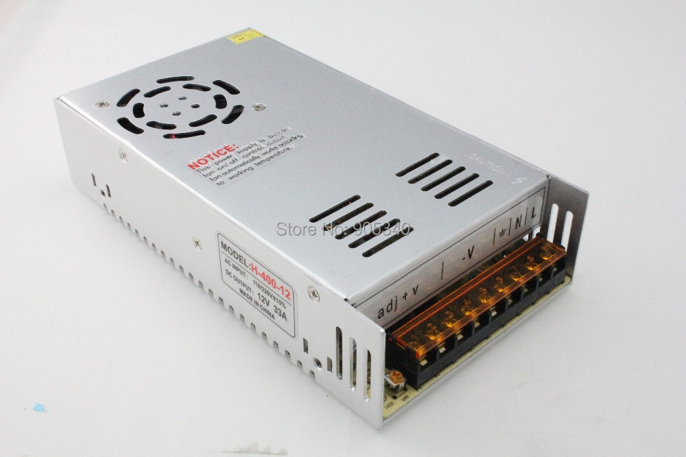 400W 12V 33A Single Output Switching power supply for AC to DC LED transformer power adapter 220v to 12v switching power supply