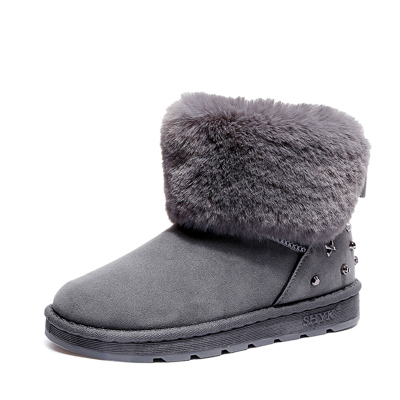 2acfb8ecbe9 YIDI Hot Women Boots Winter Warm Snow Boots Women Botas Mujer Bow Fur Ankle  Boots Women Suede Ankle Snow Boots