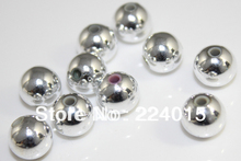 200pcs/10mm Hot Sale Wholesale Silver Plated Acrylic ABS Round Miracle /Perles Bead For European Jewelry DIY,Freeshipping,B0912#
