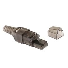 CAT6A RJ45 полевая сборочная вилка сетевой разъем Модульные вилки Разъемы Ethernet поддерживает питание через Ethernet