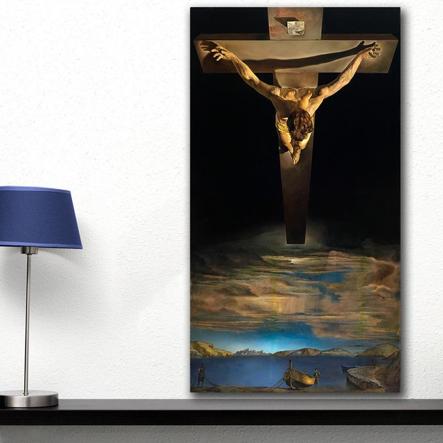 Christ of Saint John of the Cross by Salvador Dali Printed on Canvas 2