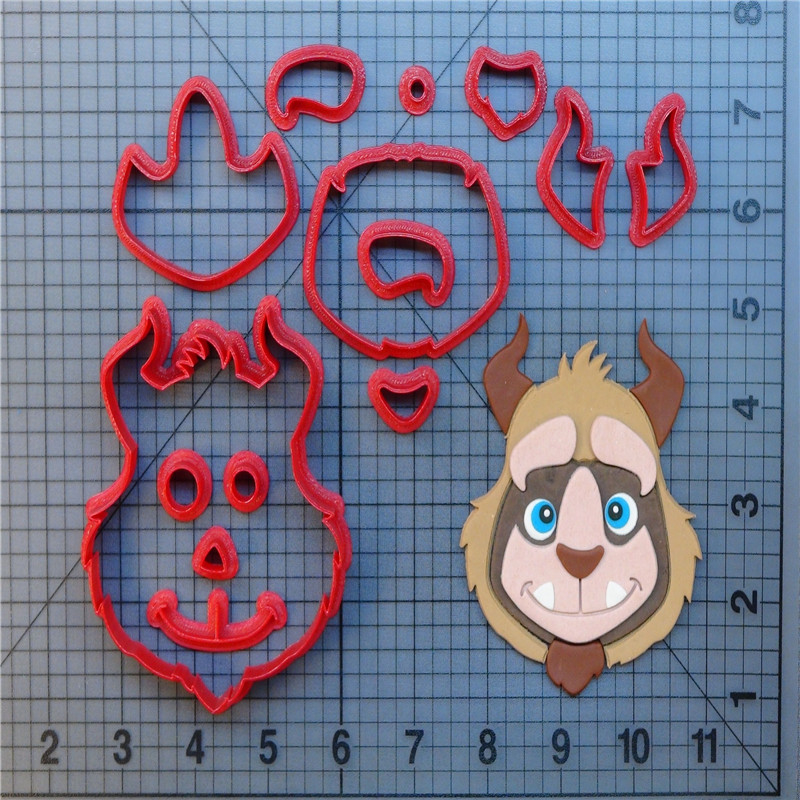 Cupcake Design Kitchen Accessories: Beauty And The Beast Cookie Cutter Set Custom Made 3D