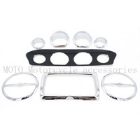 New High Quality Motorcycle Stereo Accent Stereo speedometer Gauge plate Trim Kit For Harley 2014 up Electra Glide