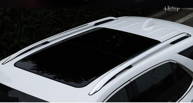 Image 4 - 新到着屋根レールルーフラックルーフ荷物バーシボレーエクイノックス 2018 2019 2020。厚み合金、プロモーション価格bar barbar luggage rackbar racks -
