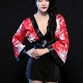 Sakura kimono japonés erótica caliente conjunto de lencería sexy mujeres cosplay disfraces juegos de rol señoras pijamas babydolls underwear p20