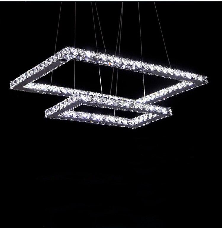 Phube Освещение LED Прямоугольник люстра современные хрустальные Lustre люстра свет включен Дистанционное управление Бесплатная доставка!