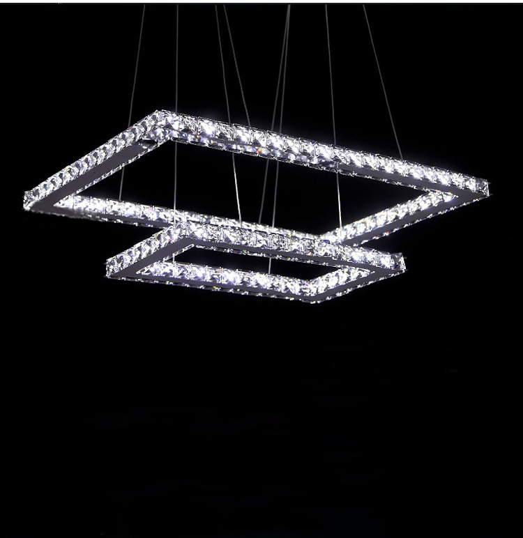 Phube Lighting LED Rectangle Chandelier Light Modern Crystal Lustre Chandelier Light included Remote Control+Free shipping!