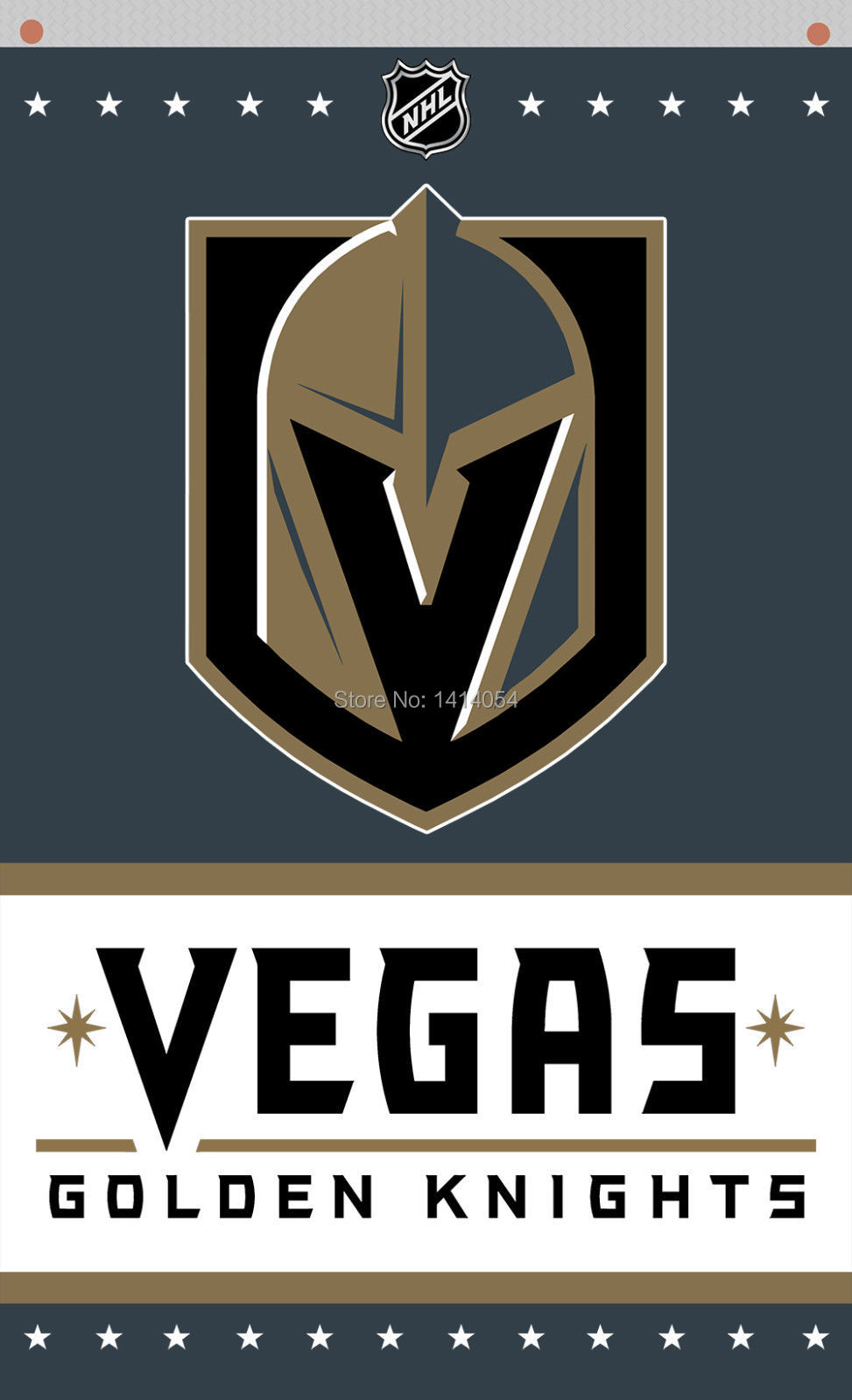 VEGAS GOLDEN KNIGHTS Vertical flags NHL3X5FT Banner 100D Polyester grommets custom flag,free shipping