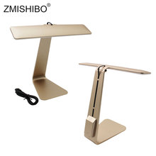 ZMISHIBO Touch Control Student LED Desk Modern Night Light Utralthin Dimming Lamp Rechargeable USB 5V Eye Protection Table Lamps(China)