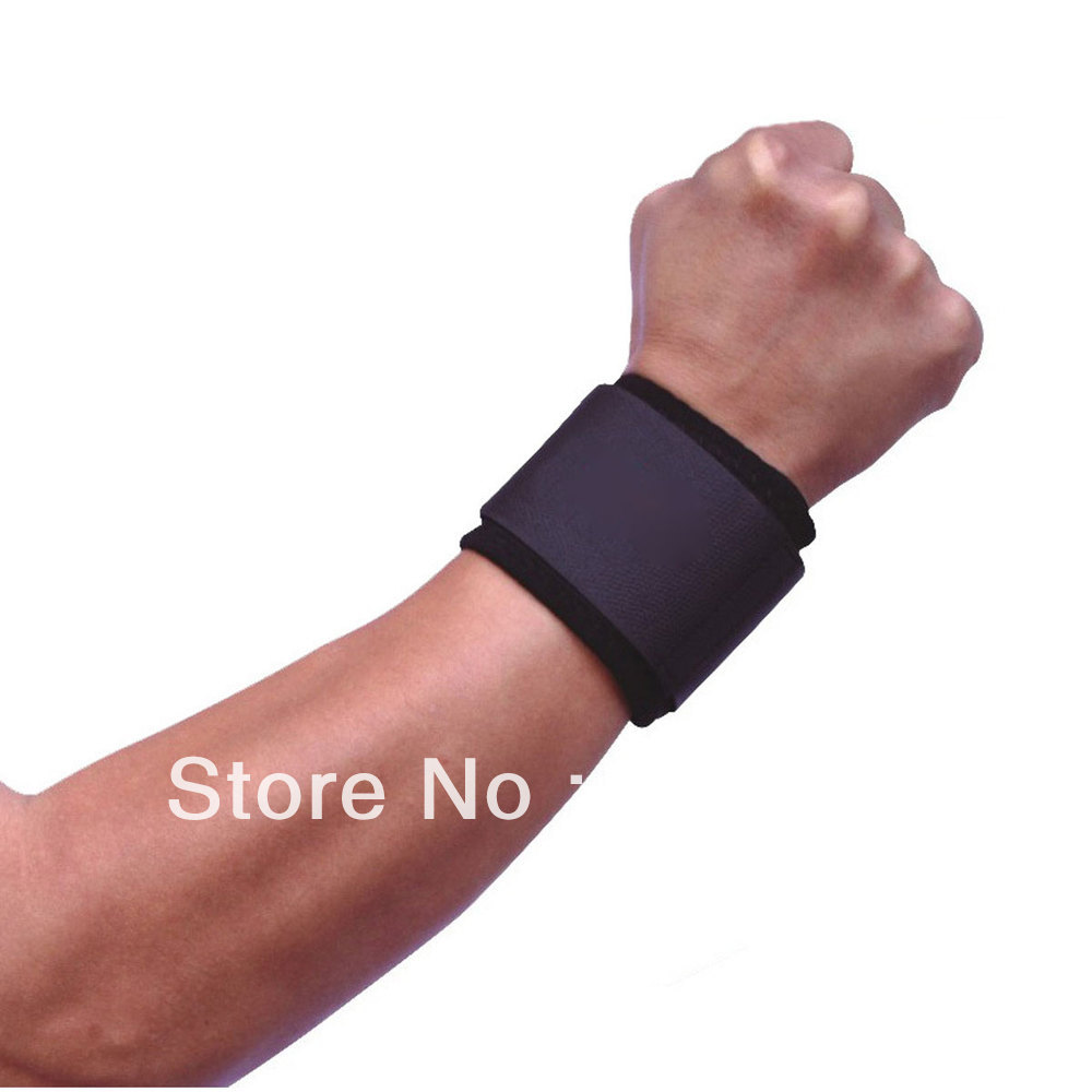 Free Shipping One Pair Wrist Brace Support Gym Strap Band Weight Lifting Gym Training