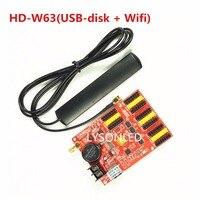 HD W63 Huidu Wireless WIFI USB Driver LED Controller WiFi Single Color LED Control Card For