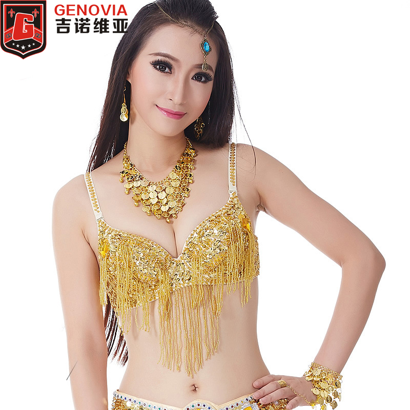 D2BQB12# 1pc Shiny Sequins Performance Costume Belly Dance Bra/Top 34/75C