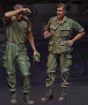 1/35 Scale Unpainted Resin Figure Vietnam War U.S. G.I.s Take Five Nam