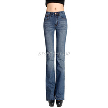 Высокое качество, акция, женские джинсы, джинсы для девочек, средняя талия, широкие брюки, расклешенные брюки