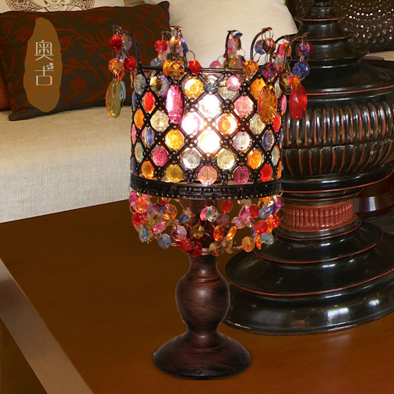 European court lamp bedroom bedside lamp bedroom lamp creative lamp pansy wedding A-59