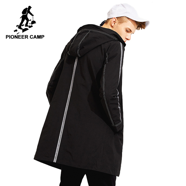 Tiên phong trại Nam áo liền quần thương hiệu quần áo khoác phong cách mới Rãnh Dài Áo khoác nam có mũ trùm đầu thời trang Hào Nam AFY803117