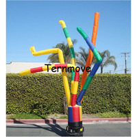 multi leg Promotional air dancer 5 tube colorful inflatable clown sky dancer funny sky dancer tube man for advertising