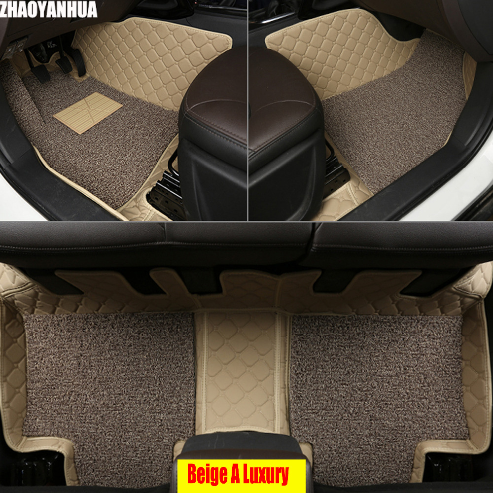 Zhaoyanhua left hand drive car car floor mats for toyota tundra sequoia 4runner 6d heavy duty all weather car styling carpet fl
