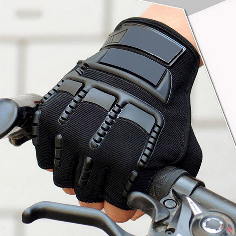 Män Cykling Combat Half Finger Anti-slip utomhus sportshandskar Militära taktiska handskar