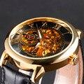 2016 nuevo reloj de bronce de época hombres reloj Mechainical mano del viento Relogio Masculino Mens relojes de primeras marcas de lujo Montre
