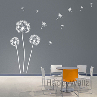 Dandelion Wall Stickers Modern Dandelion Wall Decal 3D DIY Vinyl Wall Decorative Dandelion Wallpaper Hot Sale