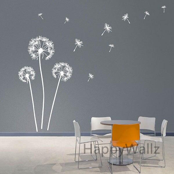 Dandelion Wall Sticker Modern Dandelion Wall Decal Vinyl Wall Decorative Dandelion Wallpaper Hot Sale Free Shipping F59