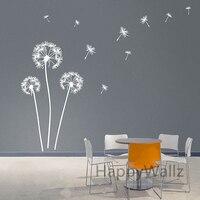 Dandelion Wall Stickers Modern Dandelion Wall Decal 3D DIY Vinyl Wall Decorative Dandelion Wallpaper Hot Sale