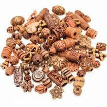 CHONGAI 40 г/пакет, Акриловые Имитация дерева, цветные, смешанный стиль, акриловые шарики для изготовления ювелирных изделий, детское ожерелье, с...