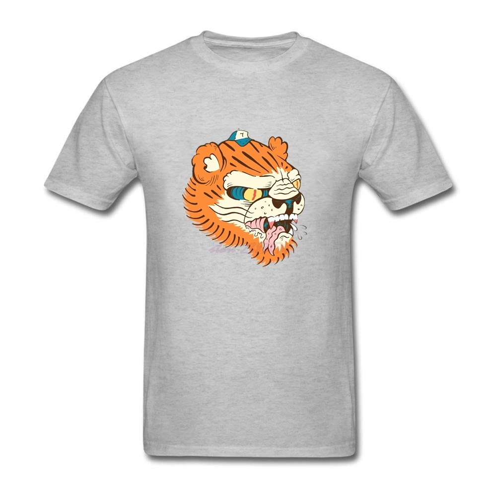 fitting Mens Short Sleeve T Shirts Adult 100% Cotton toni the tiger Classical Round Neck Design casual shirts