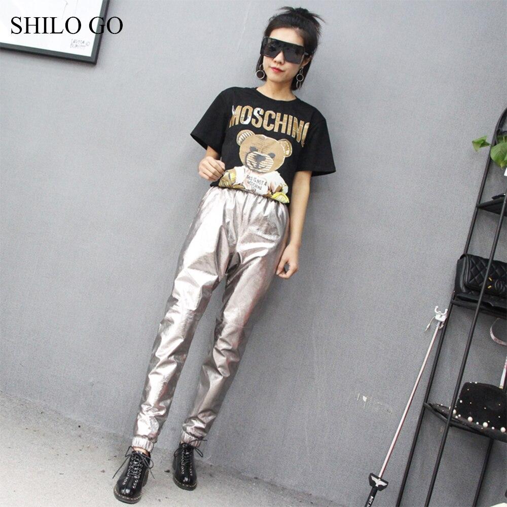 SHILO GO pantalons en cuir femmes printemps mode en peau de mouton pantalon en cuir véritable stretch taille haute poche latérale pantalon crayon en argent