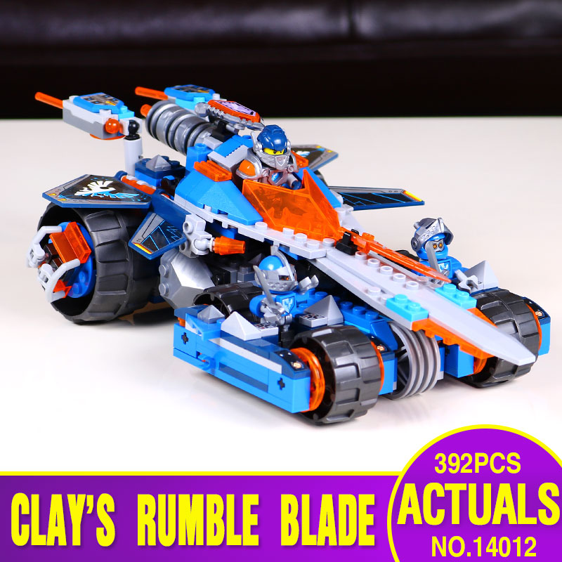 LEPIN 14012 Nexo Knights Clay's Rumble Blade Axl Combination Marvel Building Blocks Kits Toys Compatible Nexus