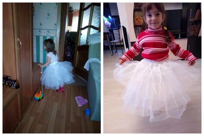 Купить с кэшбэком 2019 Short Petticoat Kids Mini Tutu Waist Adjust 3 Layers Hoop Ruffle Girls Petticoat Crinoline Underskirt Wedding Accessories
