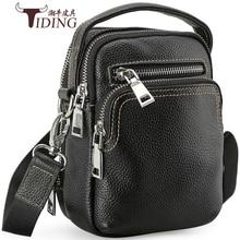 Men Genuine Leather Mini Designer Brand Luxury Shoulder Cross Body Bags 2018Man Mini Cow Leather Travel Beach Messenger Hand bag