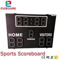 Waterproof High Brightness led digit scoreboard For basketball football tennis Various Race 5 years Warranty