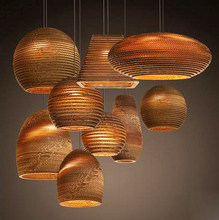 Vintage Rural Paper Honeycomb lampshade Pendant Lights Lampshade Paper Lanterns For Home and Bar creative design lamp Decoration(China)