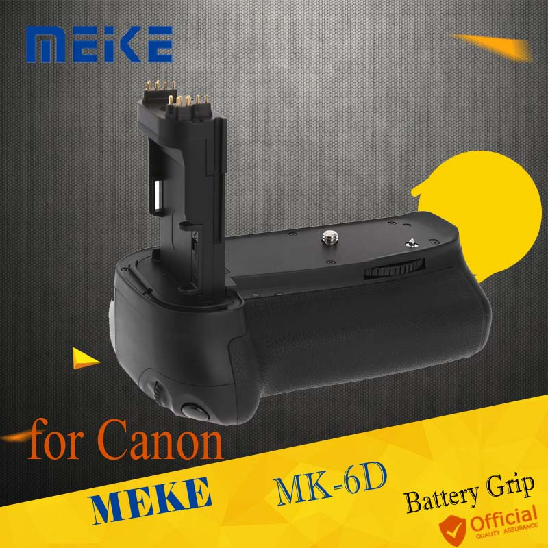 Meike MK-6D Vertical Spare Battery Grip Holder for Canon EOS 6D Camera DSLR Replace as BG-E13 Works with LP-E6 Accessories meike mk 760d pro built in 2 4g wireless control battery grip suit for canon 750d 760d as bg e18