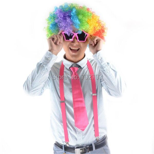 Kostümzubehör Afro Rainbow Mehrfarbige - Partyartikel und Dekoration - Foto 4