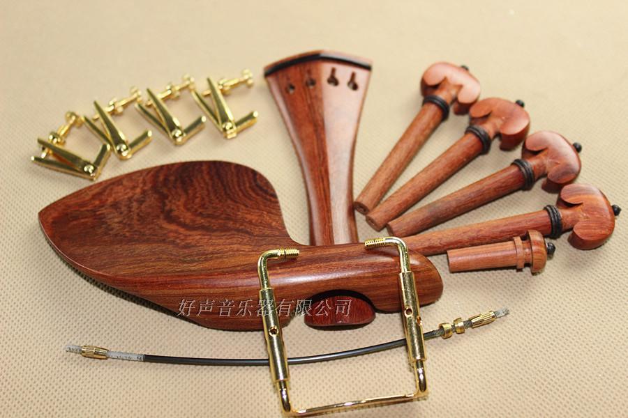 1 Set 4/4 Violin Parts, Rose Wood Violin Accessories